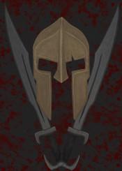 300 movie spartan sparta fighter warrior swords blood dark