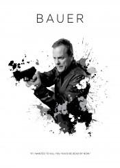 jack bauer kiefer sutherland toronto 24 federal agent bomb terrorist badass gun black white canada
