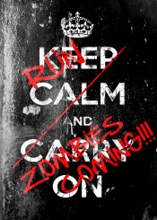 zombies kep calm carry on