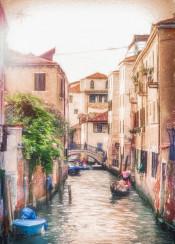 venice landscape city italy tourism painting digital photography romantic sunset venice venezia