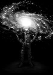astronaut galaxy stars space