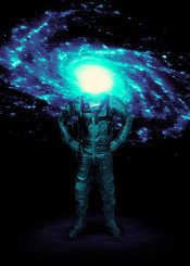 astronaut galaxy space stars