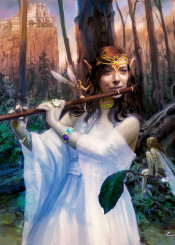faerie fairy queen flute castle magic