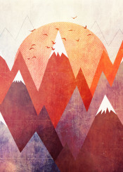 mountains birds sun journey travel traveller voyage explore