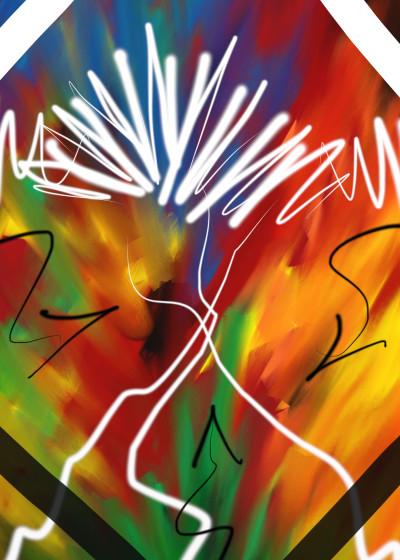 Vincent J Newman Abstract Digital Art   Displate Prints on Steel