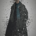 """""""Detective"""" Splatter effect artwork inspired by the TV series, Sherlock"""