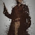 """""""Space Cowboy"""" Splatter effect artwork inspired by Malcolm Reynolds from Firefly"""