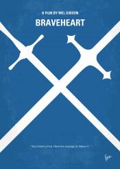 minimal minimalism minimalist movie poster chungkong film artwork design braveheart mel gibson