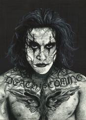 the crow thecrow movie inked ikons inkedikons tattoo death brandonlee brandon lee comic book