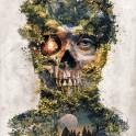 My dark surreal forest deity original composition called Gatekeeper