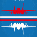 No128 My TOP GUN minimal movie poster  As students at the Navy's elite fighter weapons school compete to be best in the class, one daring young flyer learns a few things from a civilian instructor that are not taught in the classroom.  Director: Tony Scott Stars: Tom Cruise, Tim Robbins, Kelly McGillis  Storyline Maverick is a hot pilot. When he encounters a pair of MiGs over the Persian Gulf, his wingman is clearly outflown and freaks.