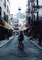 nyc bike chinatown doyers street