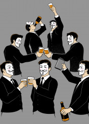 aa alcoholics anan anonynous maske guy fawkes liquor whiskey drinks drinking funny