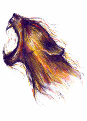 tiger animal roar colorful colors flare up environment fire unique illustration art abstract inspira