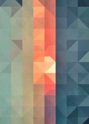 abstract geometry sunset fade gradient color