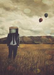 balloons balloon field mountain sky summer tv manly sad bokeh nostalgic melancholic