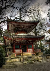 kyoto temple shrine japan hdr photo
