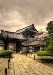 temple ninnaji japan shrine kyoto hdr photo