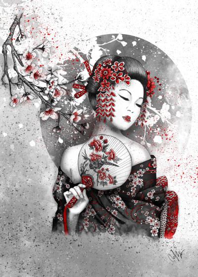 Christy Leigh Asian Art   Displate Prints on Steel