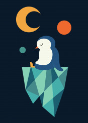 penguin calm cute funny lovely cool illustration