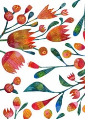 plants flowers floral leaves painting painted art design illustration squirrell nicsquirrell buds