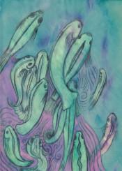 fish swimming below underwater koi water animal aquatic