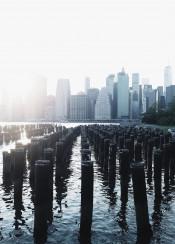 nyc newyork sunset skyscraper manhattan