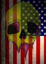 america skull zombie flag