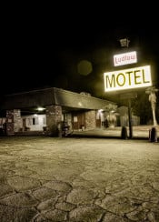 ludlow motel california usa route 66 scary vintage hdr photo