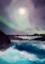 painting digital artwork landscape winter