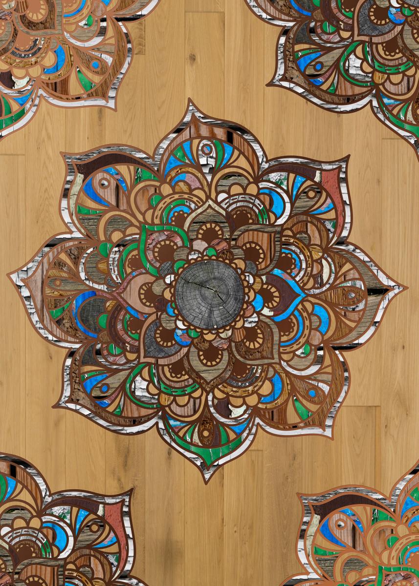 Mandala VII Wood