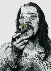 dannytrejo trejo inked inkedikons tattoo machete smoking
