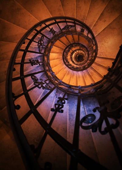 Jarek Blaminsky Stairs   Displate Prints on Steel