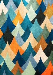 dverissimo pattern abstract peaks mountain eccentric stylized nature color bright