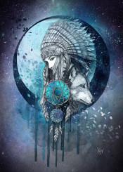dreamcatcher night wolf