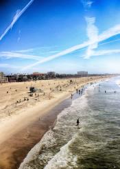santa monica los angeles california beach sea sky hdr beautiful amazing