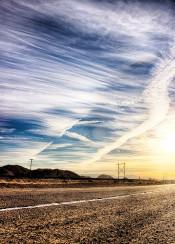 california sunset route sunrise hdr 66