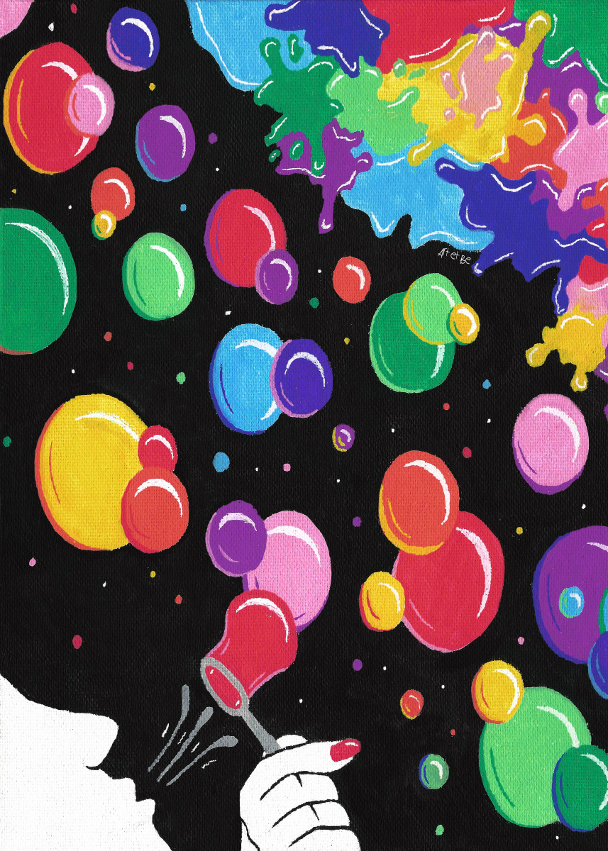 bubbles color the world, multicolor bubbles, 138516