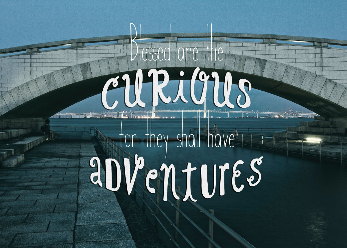 Blessed are the Curious for They Shall Have Adventures Bridge - For al