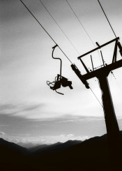 give lift chairlift mountain landscape monochrome black white photography aufschnaiter sky horizont skiing austria capture high cloud hiking wanderlust adventure snowboarding winter fall