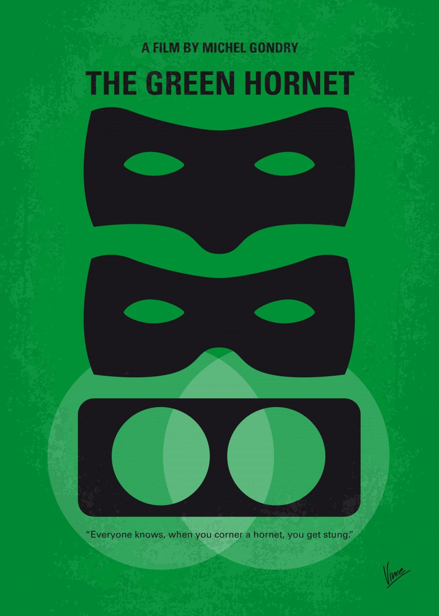 No561 My The Green Hornet minimal movie poster Following the death of