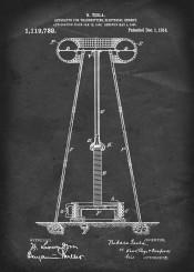 patent tesla apparatus for transmitting electrical energy vintage illustration