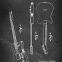 Guitar - Patent by C. L. Fender - 1951