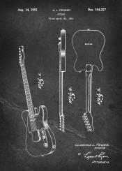 patent fender guitar vintage illustration