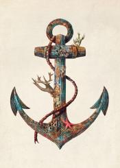 anchor nautical sea ocean starfish coral