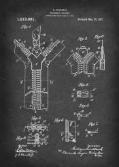 zipper separable fastener patent vintage illustration sundback