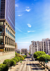 los angeles downtown hdr sky city building beautiful photo