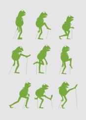 frog green monty python silly walk ministry