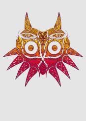 majora moon link zelda princess ocarina legend of vintage victorian mask