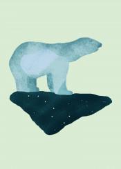 polar ice bear arctic cold winter whimsical cute animal